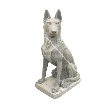 Hot sale New product Life Size marble dog Statue