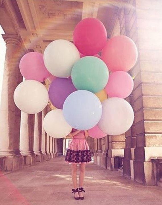 Cirkel Giant Ballon 36 ''35g Ronde Latex Ballonnen Effen Kleur 36 inch fotoshoot Prop Verjaardag Bachelorette Bruiloft decoratie
