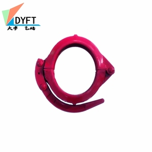 pipe fittings dn125 concrete pump pipe line up clamps pipe fittings