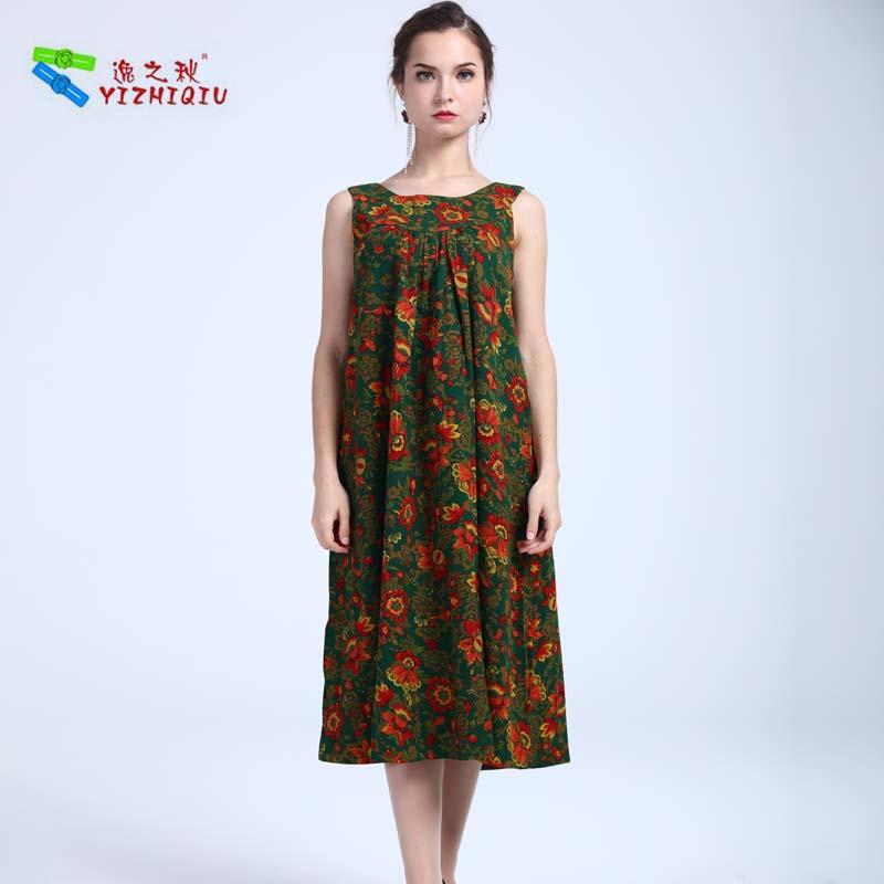 YIZHIQIU Sleeveless Summer Breathable Maxi Dress