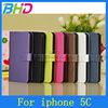 Colorful Wire Drawing Protective leather case for iphone 5c