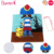 Cartoon custom printed baby hooded towel 100% cotton with hooded