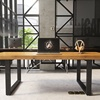 industrial office furniture solid wood staff desk manager desk working table moq is 1 pcs custom order