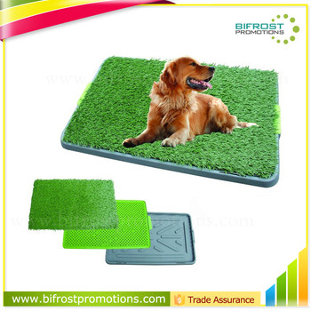 Grass Potty Training With Tray And Loo Pad Indoor Dog Toilet - Buy ...
