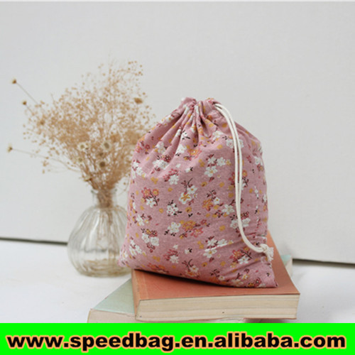 Cute Coffee Bean Bag Canvas Drawstring Bag Small Pouch Mini ...