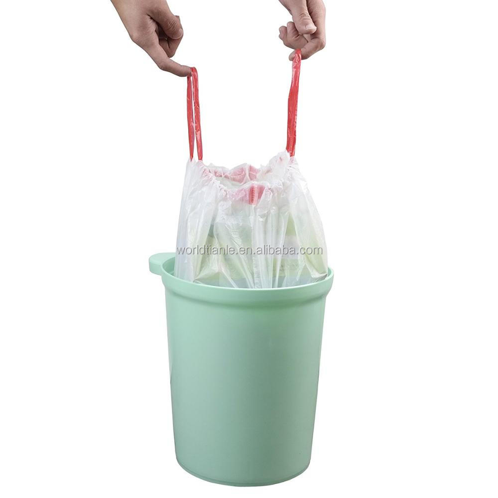 3 Gallons Promotional plastic Small Drawstring Trash Bags