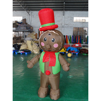 customized inflatable gingerbread man mascot costume for adult or kids