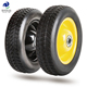 8 inch semi-pneumatic rubber wheel tire with bearing for tubeless wheelbarrow