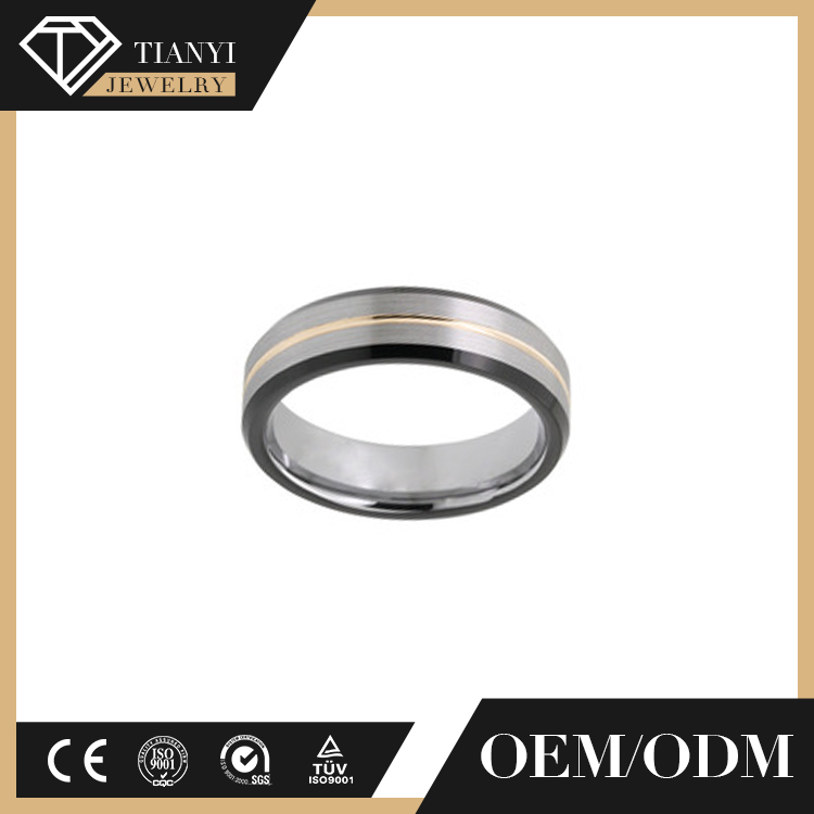 Hot selling vogue jewelry wedding rings, black ring, tungsten ring blank