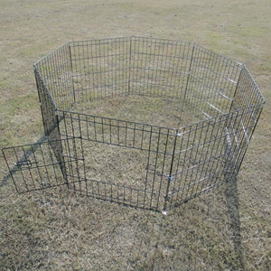 "24"" 30"" 36"" 42"" 48"" folding wire pet Dog Playpen Crate Fence Pet Kennel Play Pen Exercise pen"