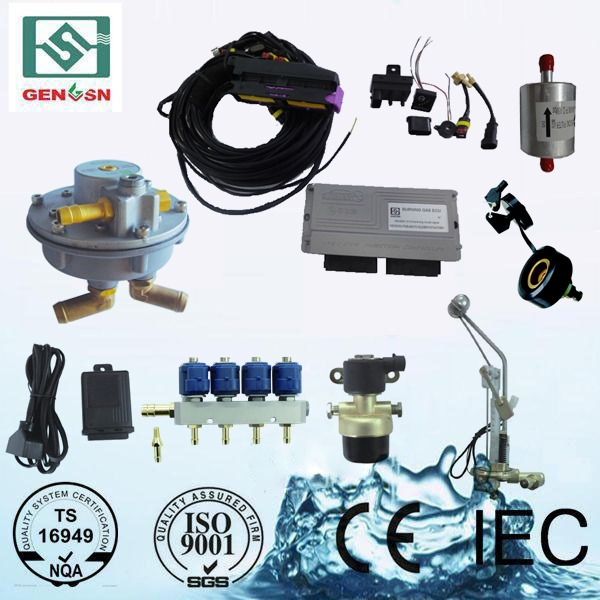 High quality china factory hot sale pneumatic gas fuel lpg 4 cylinder car conversion kit