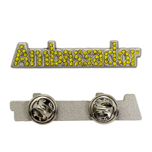 Cheap Custom Alphabet Letter Rhinestone Brooch Pins, Rhinestone Number And Letter Lapel Pins