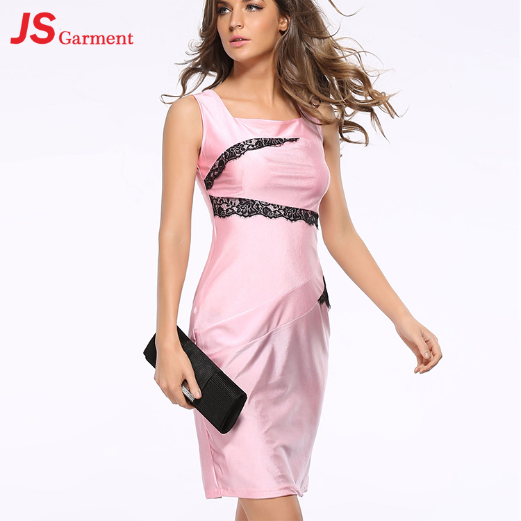 JS 20 American Ladies Night Party Cocktail Pink Dress For Woman Sexy 700