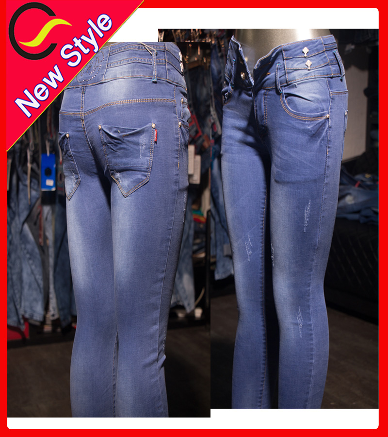 wholesale best brand funky women jeans in plus size