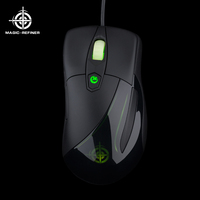 High quality Ergonomic design 6D Led backlight Gaming mouse with Invisible Logo