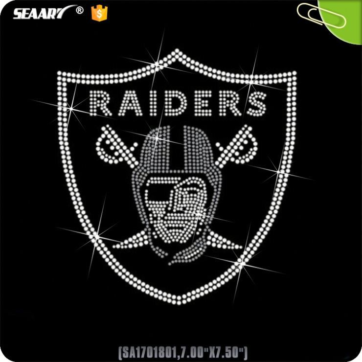 Heat Transfers Raiders For Rhinestone Iron On Design For T-Shirts