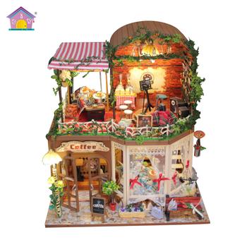 Happy Kid Toy Diy Miniature Dollhouse Kids Educational Wooden Toys