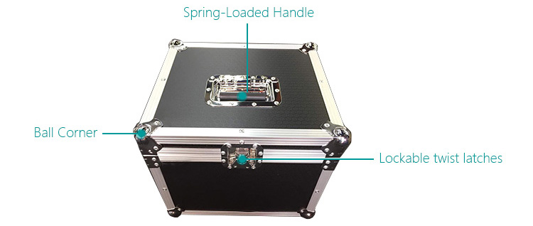 Cable Storage Mic Microphone ABS Carrying Case 6 Portable Flight Case. NEW