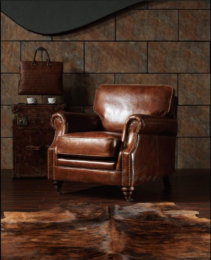 Remarkable Top Grain Vintage Cow Leather Single Sofa Used Leather Club Chairs Buy Used Leather Club Chairs Vintage Cow Leather Single Sofa Chair Single Sofa Machost Co Dining Chair Design Ideas Machostcouk