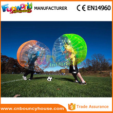 Promotion sports inflatable body bumper ball grass ball on sale