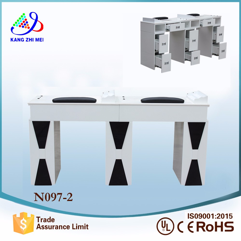 new design high quality salon furniture manicure table double for selling N097-2