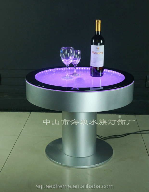 Perfect Amazing Led Bar Table ,Fantastic LED Light And Water Bubble Moving Table