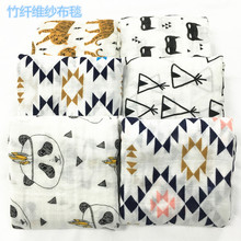 muslin children handmade baby pattern bed sheet set blanket