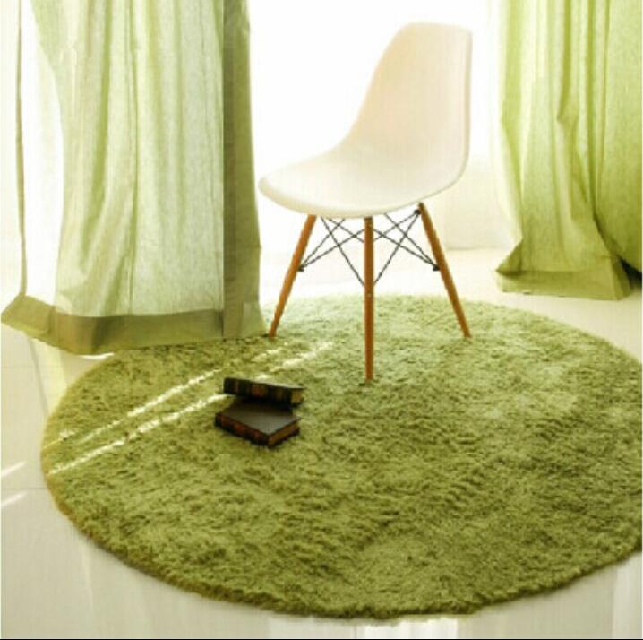 Round Short Plush Carpet Soft Shaggy Cushion Kids Area Rug