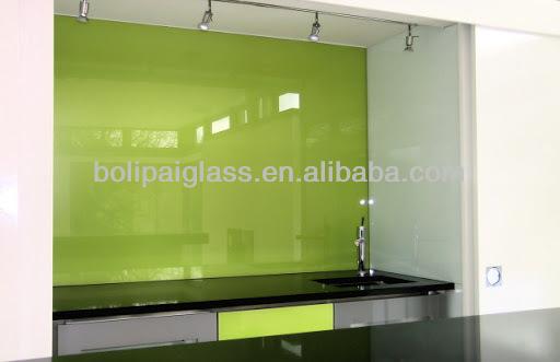 4 8mm kleur terug gelakt gehard glazen wand panelen voor keuken ...