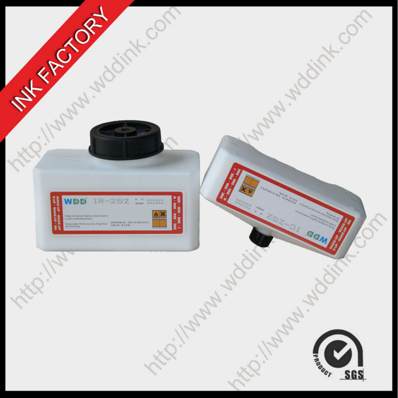 quality cij printer domino mek base ink IC-252WT anti-shift