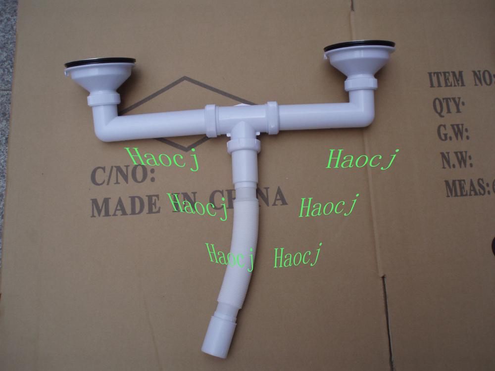 Tubo Scarico Lavandino Flessibile.Doppio Di Plastica Tubo Di Scarico Lavandino Rifiuti Tubo Piega Tubo