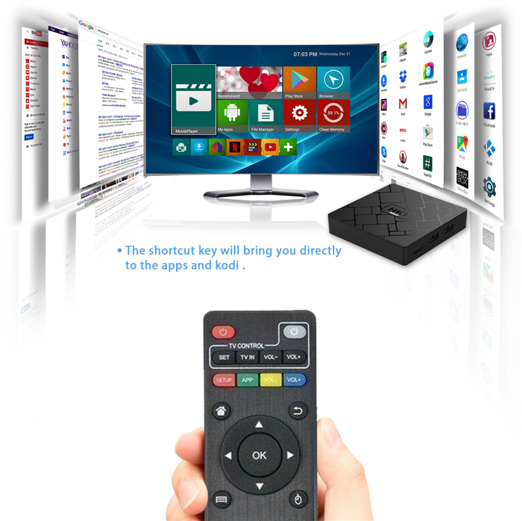 Internet Tv Box Android 8.1 Hk1 Mini Rk3229 Quad-core 2gb Ddr3 Hk1 Mini Android Tv Box