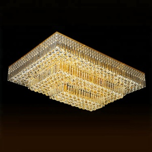 Modern hotel restaurant decorate surface mount rectangular chandelier wholesale