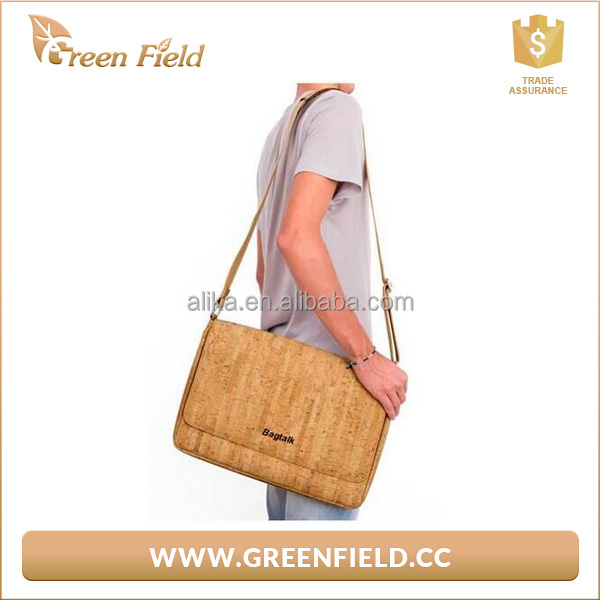 portable bag laptop nature cork computer laptop bag