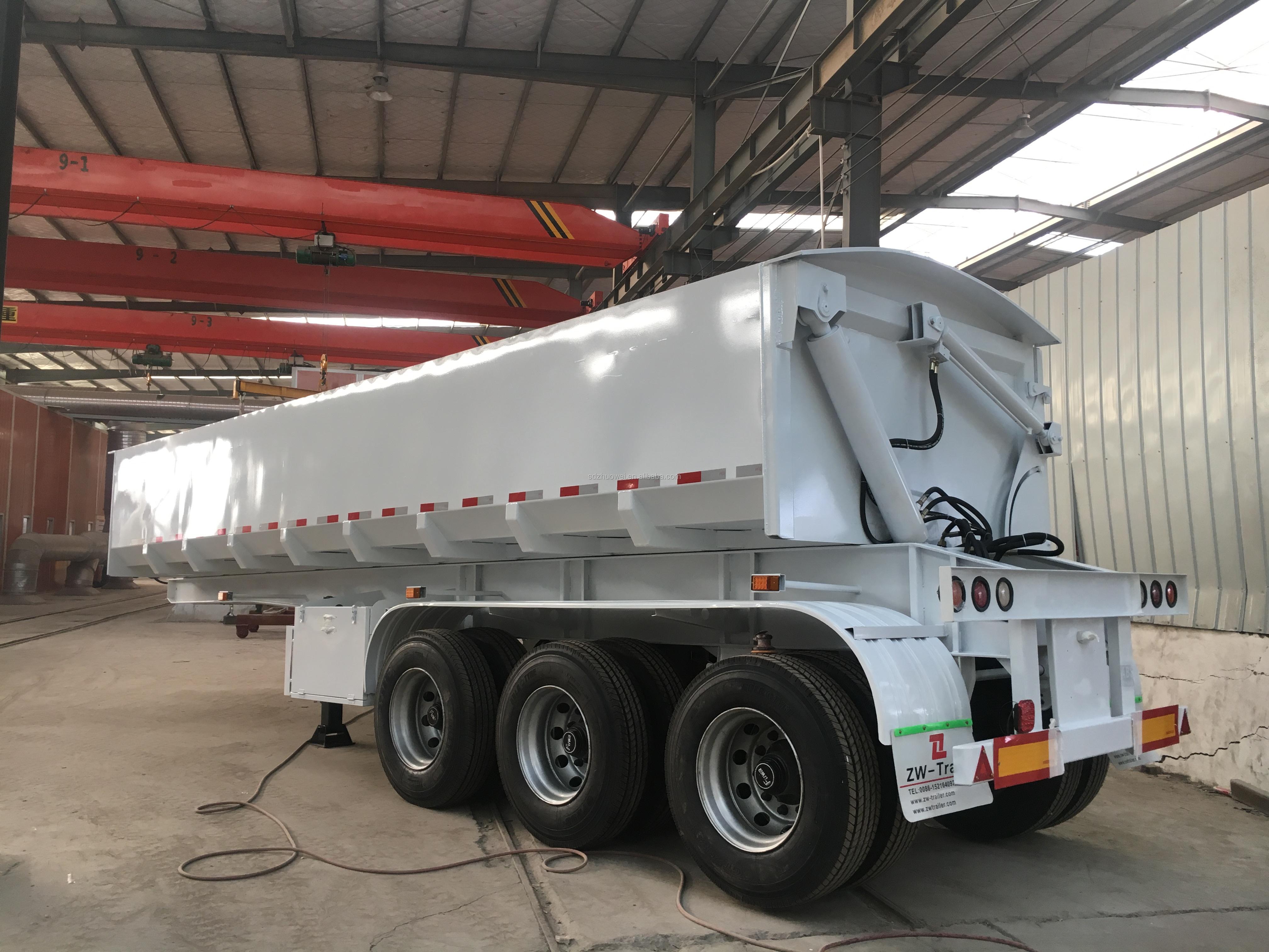 4 axles 36-40 cubic rear tipper dump truck trailers