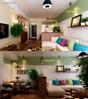 house living room and bedroom decorative wall panel