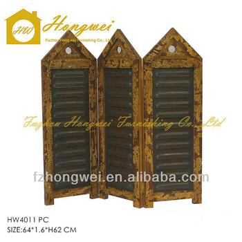 primitive antique wooden room dividerroom screens vintage with 3 pcs small folding decorative screens