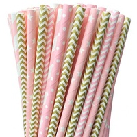 Free Samples Fda Fsc Sgs 100 Biodegradable Assorted Paper Straw Pink princess Superman Rainbow Paper Drinking Straws