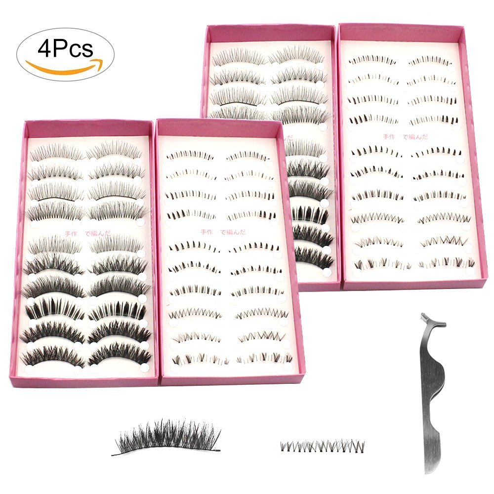 c2c137f0f0a Get Quotations · Fomei 40 Pairs With 20 Styles Japanese Cosplay Eyelash  Fake False Upper Lower Eyelash Lower Lashes