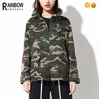 Groothandel Custom Vrouwen Militaire Camouflage Leger Jas Met Patch Buy Camouflage Jas,Militaire Camouflage Jas,Leger Jas Product on