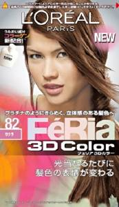 NIHON LOREAL Feria 3D Hair Color Shine & Moist Technology #82 Sakura (Japan Import)