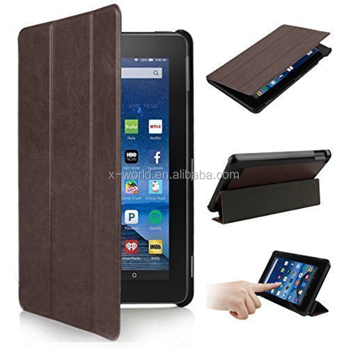 Smart Fold Stand PU Leather Case for Kindle Fire HD 7(2015 Version)