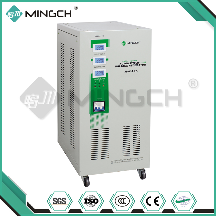 MINGCH 15KVA 3 Phase Power Supply Electric Current Voltage Stabilizer For PC