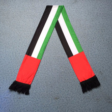 Short delivery of high quality 2016 UAE digital printing flag scarf original design