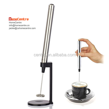 Electric stainless steel cappuccino milk frother with mounting bracket/ Battery operated MF-517A