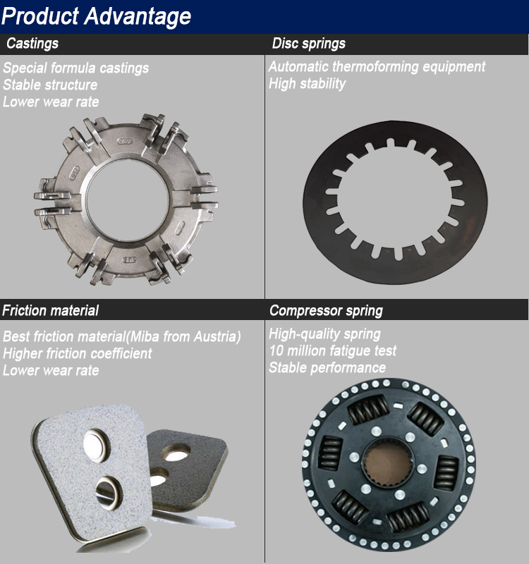 High Quality plate manufacturers Wholesale Heavy Duty Tractor Clutch Pressure Plate Friction Disc Clutch Housing and Clutch Kit