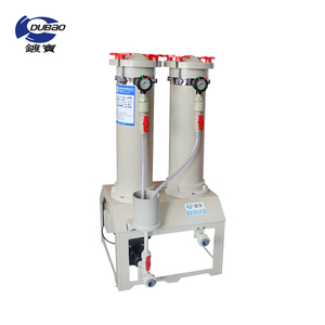 Duplex cartridge filter unit with PP spun filter cartridge, chemical filter for more pure potion