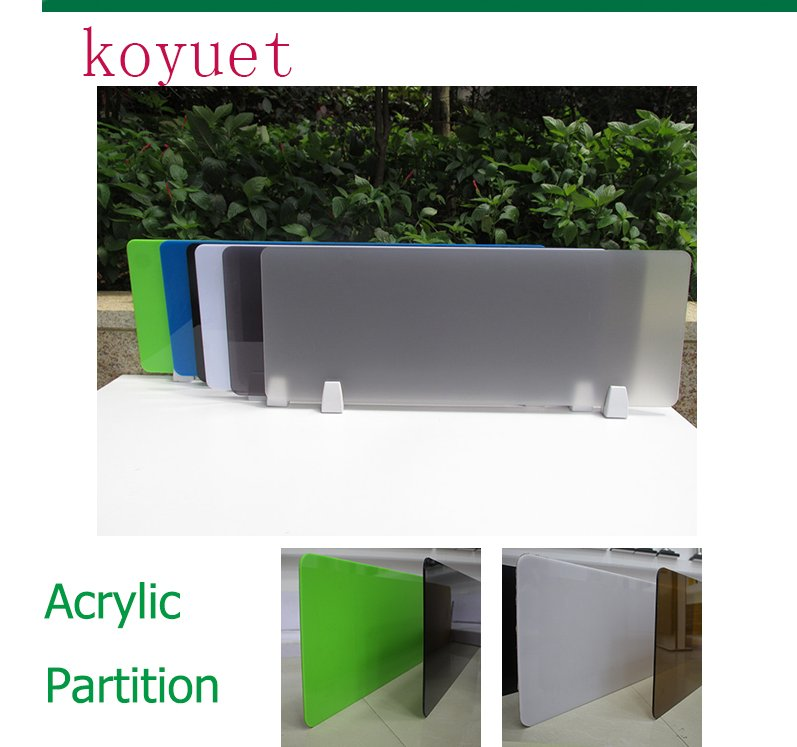 2016 new product high quality transparent acrylic partition with pmma for office desk