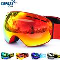 2016 COPOZZ Brand Skiing Eyewear Ski Goggles Double Lens UV400 Anti Fog Big Large Spherical Men