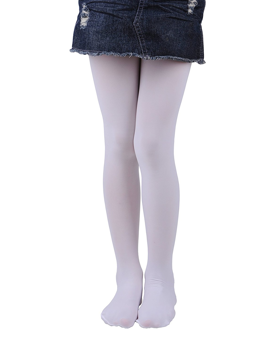 55d6a84b37181 Get Quotations · Girls Tights, Semi Opaque Footed Tights, Microfiber  Comfortable Tights, Dance Tights